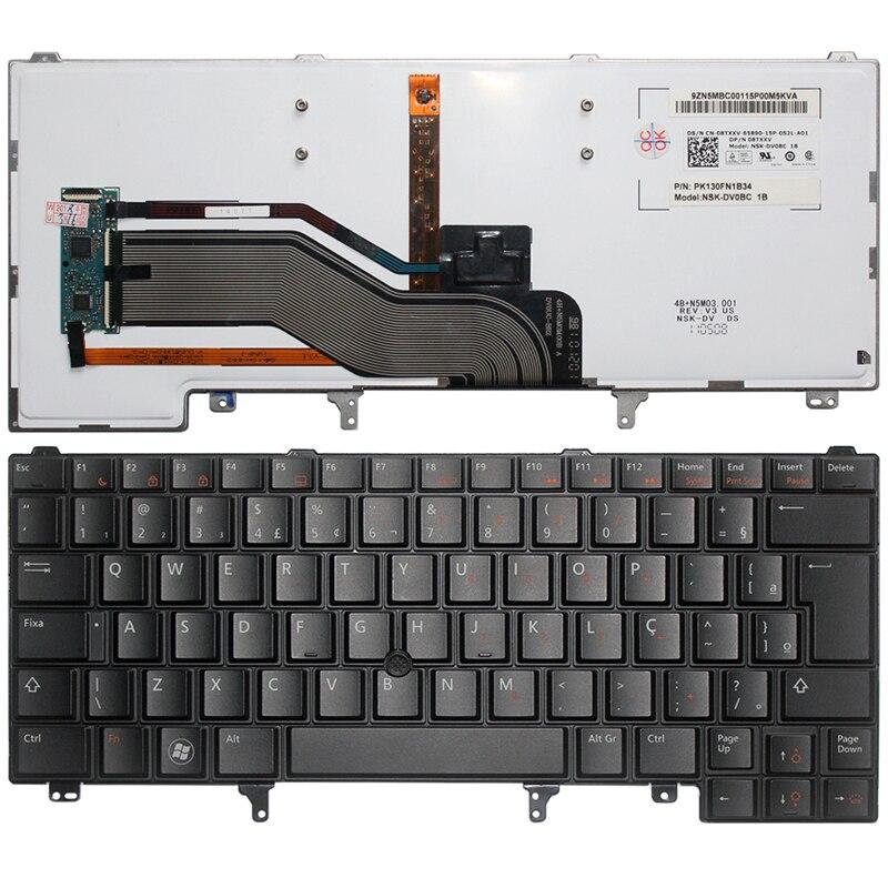 Brésil Clavier d'ordinateur portable POUR DELL Latitude E6420 E6320 E6430 E5420 E5430 E6430s noir BR avec Rétro-Éclairage clavier