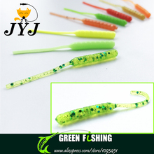20pcs/lot Soft bait fishing lure with small tail 5.5cm 0.4g weight jig hook accessories soft worm soft lures