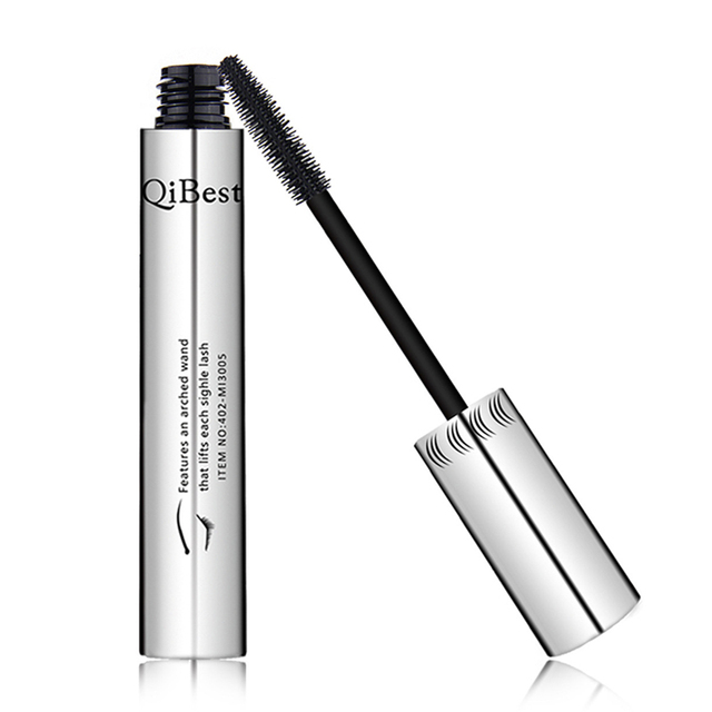 Qibest 24 Hours Mascara Brand New Makeup Mascara Volume Express False Eyelashes Make Up Waterproof Eyes Mascara Black 4