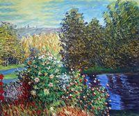 اليدوية كلود مونيه اللوحة الاستنساخ ، زاوية حديقة في montgeron ، الكلاسيكية النفط الطلاء قماش ، الانطباعية