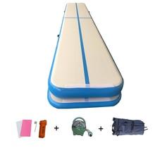 High Density Drop Stitch 0.9mm Pvc 2700gsm Gymnastics Home Use Professional Airtrack Tumbling Mat 10ft Blue Prix Air Track Gym недорого