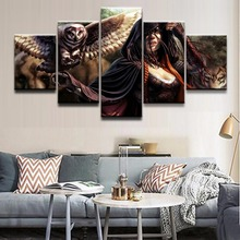 5 Pieces Gathering Magic Game Role Eagle and Wolf Modern Home Wall Decor Canvas Picture Art HD Print Painting On Canvas Artworks цена