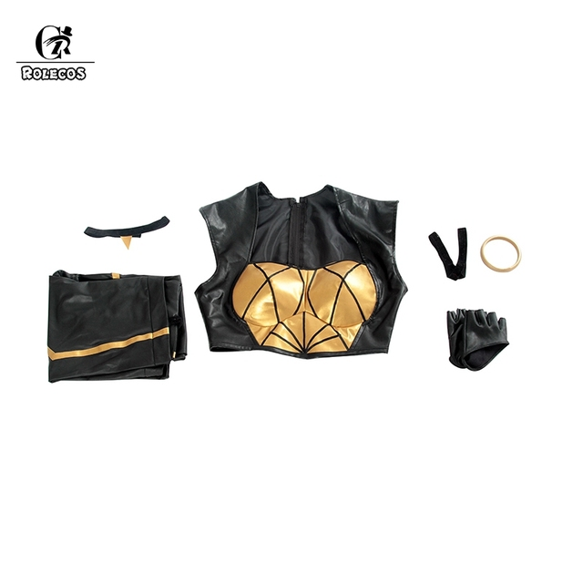 ROLECOS LOL KDA Cosplay Costume KDA Kaisa Cosplay Costume Game Kaisa Outfit Fullsets K/DA Group LOL Character Cos with Gloves 4
