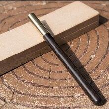 El yapımı abanoz ahşap ve pirinç jel kalem doğal renk Metal kalem lüks hediye iş için ayarla ofis ve okul yazma aracı