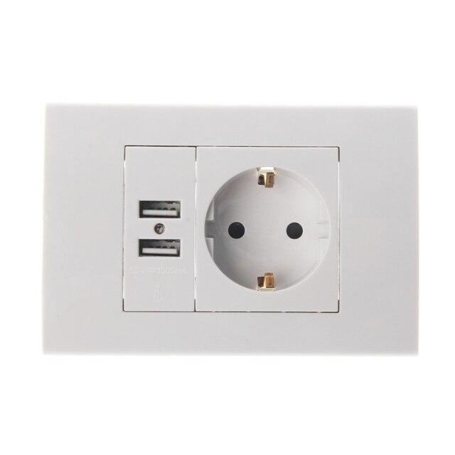 OOTDTY Wall Power Socket Plug 16A EU Standard Electrical Outlet ...