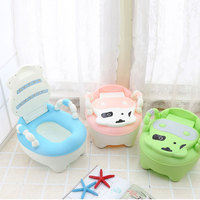 Toilet Children Baby Potty Training Cows Boy Girl Portable Potty Toilet infant Potty Infants Toilet Child Pot with FREE brush