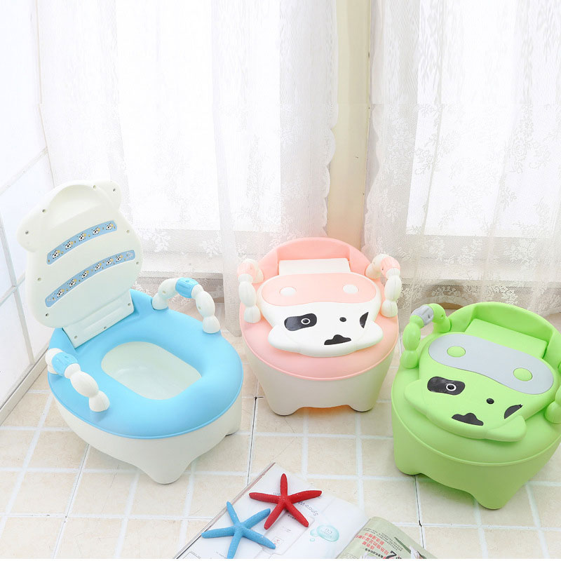 Toilet Children Baby Potty Training Cows Boy Girl Portable Potty Toilet infant Potty Infants Toilet Child Pot with FREE brush ...