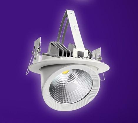 Livrare gratuită 20W COB LED reglabilă Downlight Gimbal încastrat - Iluminatul interior