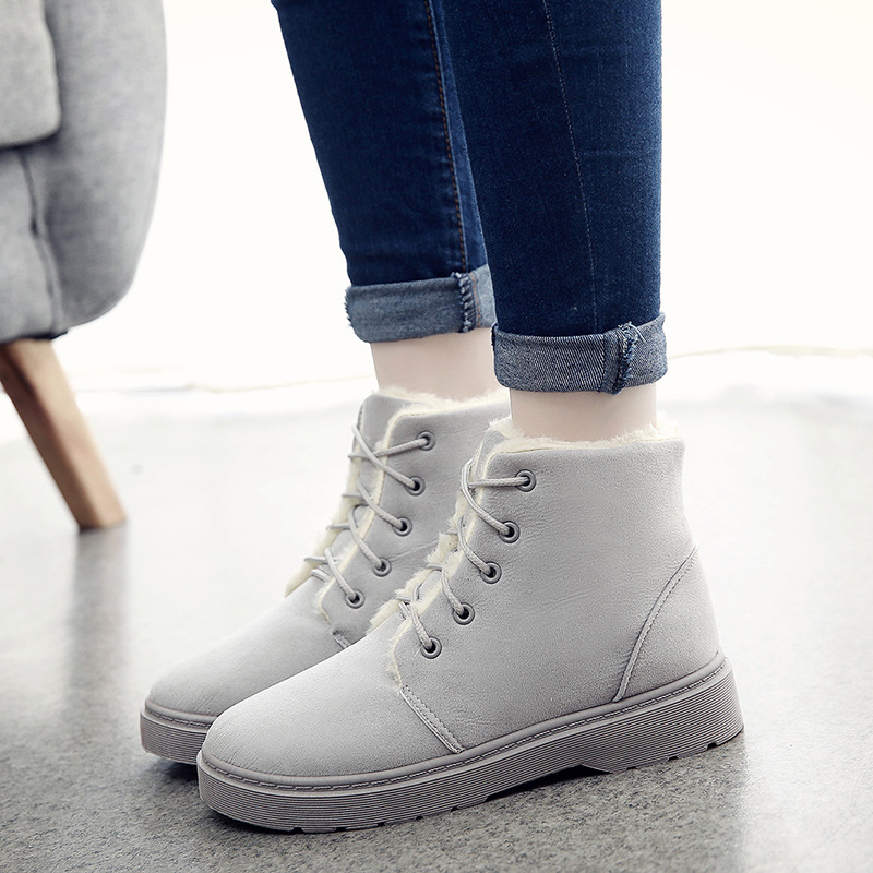 NICE Simple Casual Winter Low Heels Snow Boots