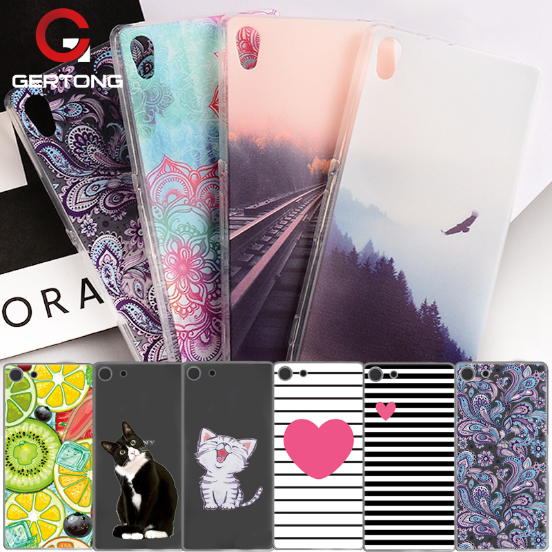 GerTong Soft TPU Silicone Phone Case For Sony Xperia XA1 XA M4 Aqua Clear Back Cover Case For Sony Xperia XA Painted Shell Coque