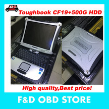 High quality Best price Toughbook CF19 CF-19 laptop used Panasonic laptop CF 19+500G HDD without software support mb star C3/C4