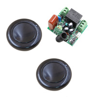 AC 220V Remote Control Switch Wireless Remote Switch 10A 1CH Relay Receiver 2 Black Button Transmitter