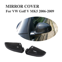 Replacement Carbon Fiber Side rearview mirror caps Covers For VW Golf V MK5 R32 GTI Jetta MK5 06 09 Passat VB6 04 10