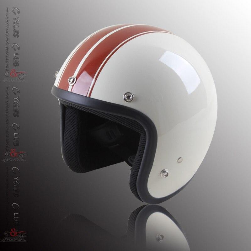 Free Shipping 2014 New Brand Moto Casco Capacete Moto Helmet 3 4 Open Face Vintage Motocross
