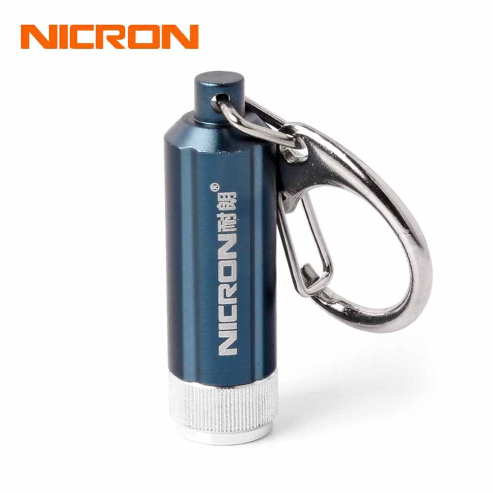 NICRON Mini LED Flashlight Battery Portable Micro Led Keychain Light Waterproof For Home Torch Lamp Pocket Camping Light G10A-1 water resistant mini 6 led white light camping flashlight keychain blue silver 2 x cr2032