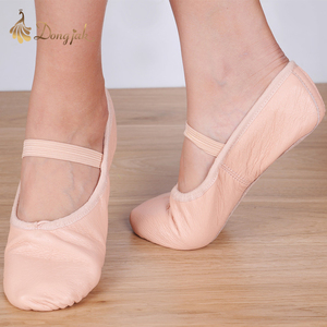 Image 4 - Canvas Flat Slippers White Pink White Black salsa Ballet Shoes For Girls Children Woman Yoga Gym According The CM To Buy