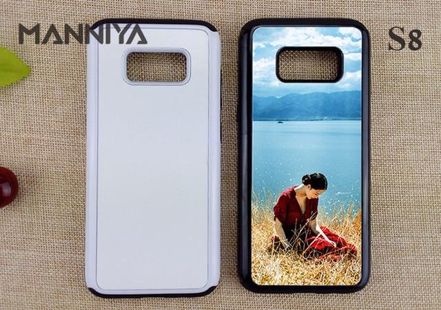 MANNIYA in Bianco 2D Sublimazione TPU + PC 2 in 1 Caso duro per Samsung Galaxy S10 S20 Nota 9 Note 10 con Inserti In Alluminio 50pcs