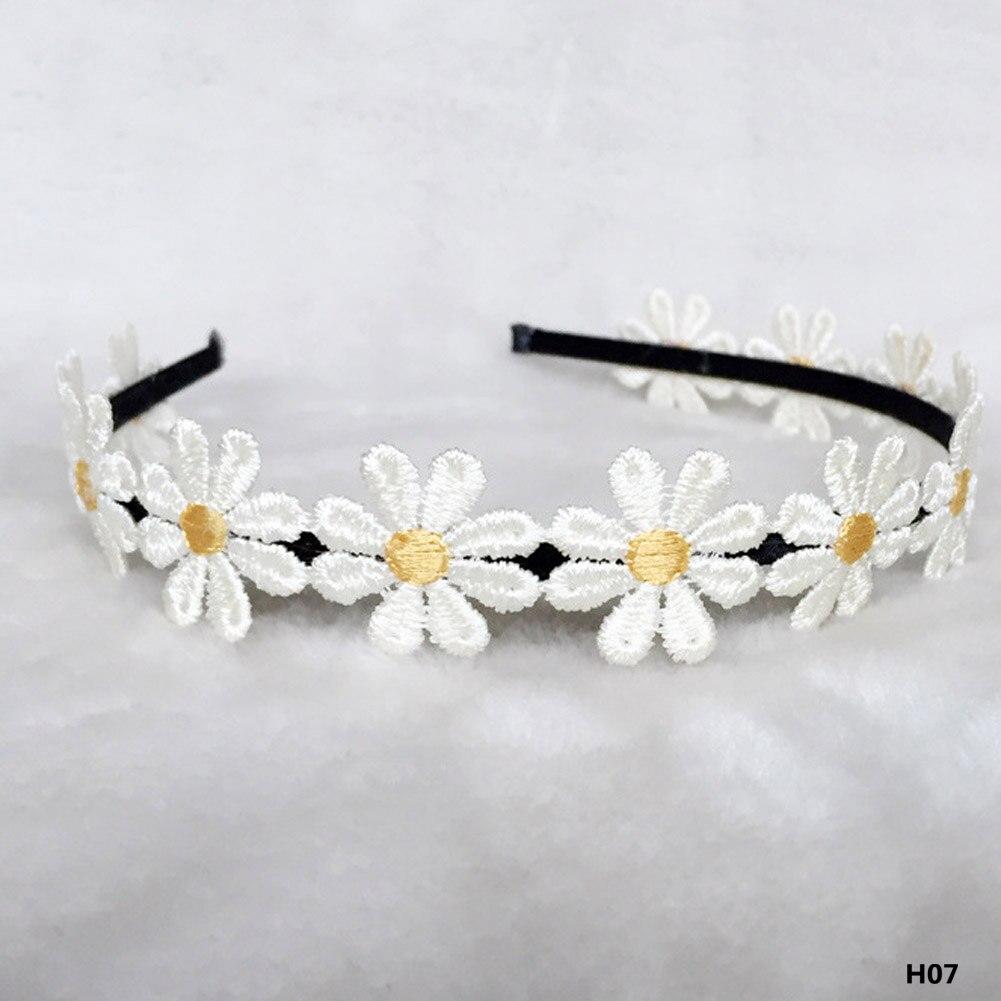 Hair Band For White Daisy Girls Headband Hair Accessories Princess