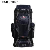 LEMOCHIC 75L Sports Type Brand Travel Bags Outdoor Waterproof Backpack Canvas Military Laptop Motorcycle School Fishing