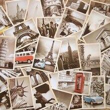 32 шт. Ретро Мультфильм открытка старинная архитектура плакат классический фильм Вторая мировая война тематические открытки Коллекция поздравительная открытка 29