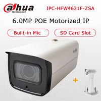 Dahua POE IPC HFW4631F ZSA IP Camera 2.7 13.5mm Motorized lens IR 80M Built in MIC SD Card Slot POE IP Camera with Bracket