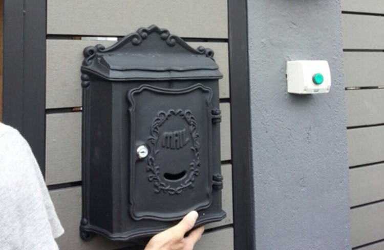 Wall Decor Mailbox : Antique wall mount cast iron mailbox embossed trim