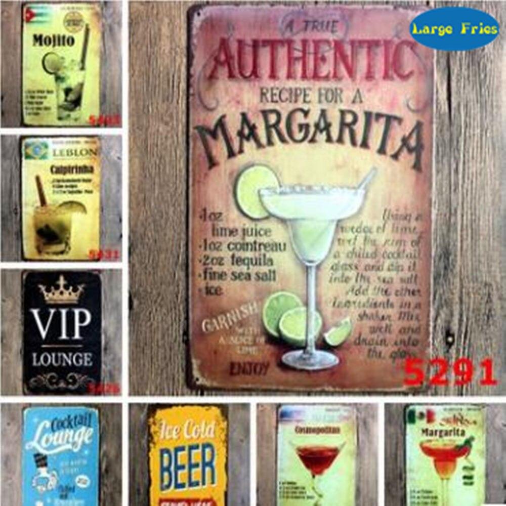 LF Metall Blechschild Cocktail VIP Beer Bar Pub Hause Vintage Retro ...