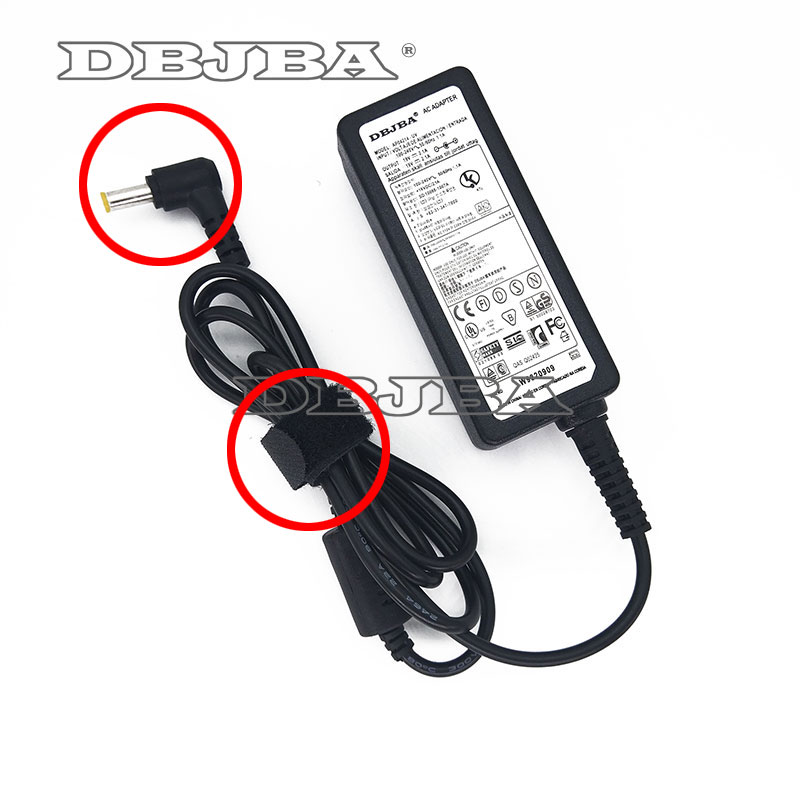 Laptop Ac Adapter 19V 2.1A 40W For samsung R19 R20 R23 R23 R25 R40 R45 R50 R510 R60 Notbook Charger