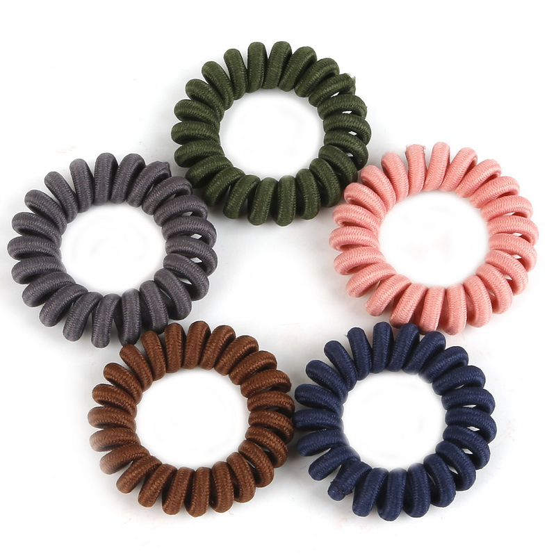 4 Pieces Headbands Telephone wire Hairbands Scrunchie Ponytail Holder Printed