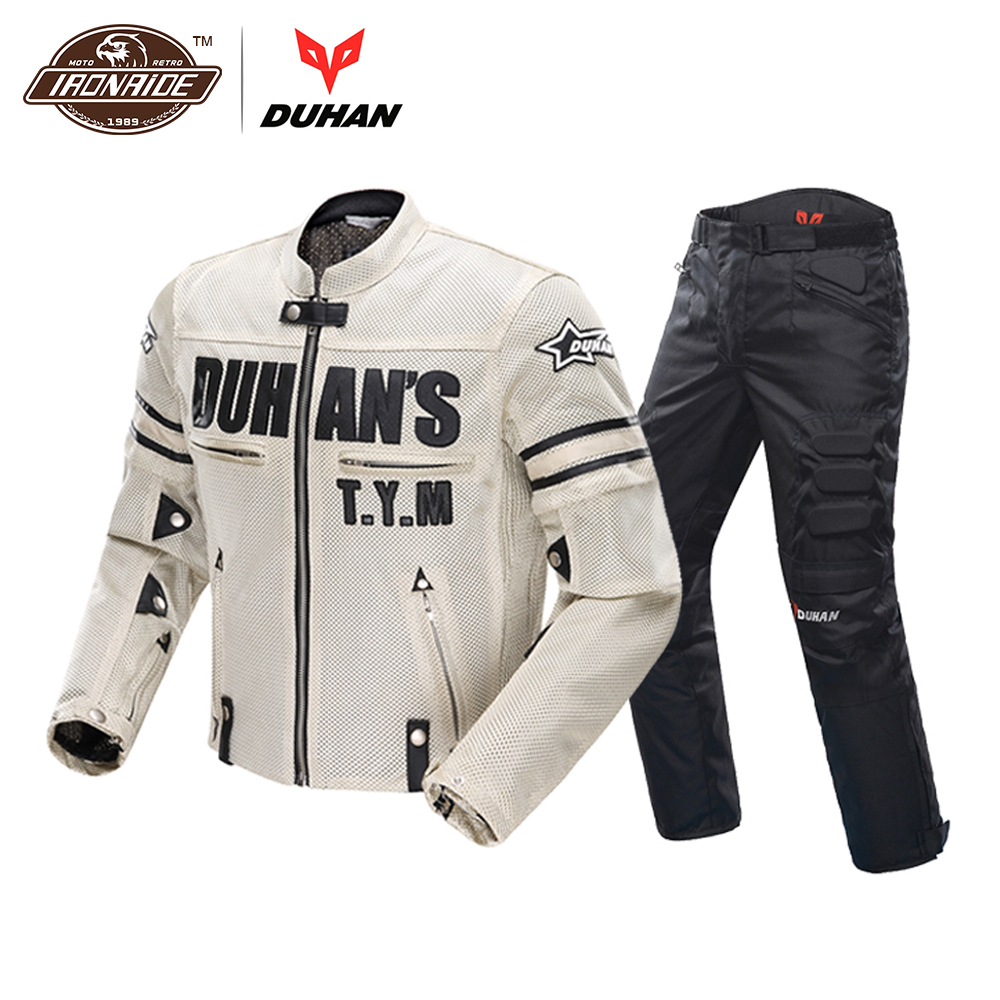 DUHAN Motorcycle Jacket Motocross Suits Jacket&Pants Moto Jacket Protective Gear Armor Men Motorcycle Clothing duhan motorcycle jacket waterproof moto jacket men s motocross clothing motorcycle suit with elbow shoulder back ce protector