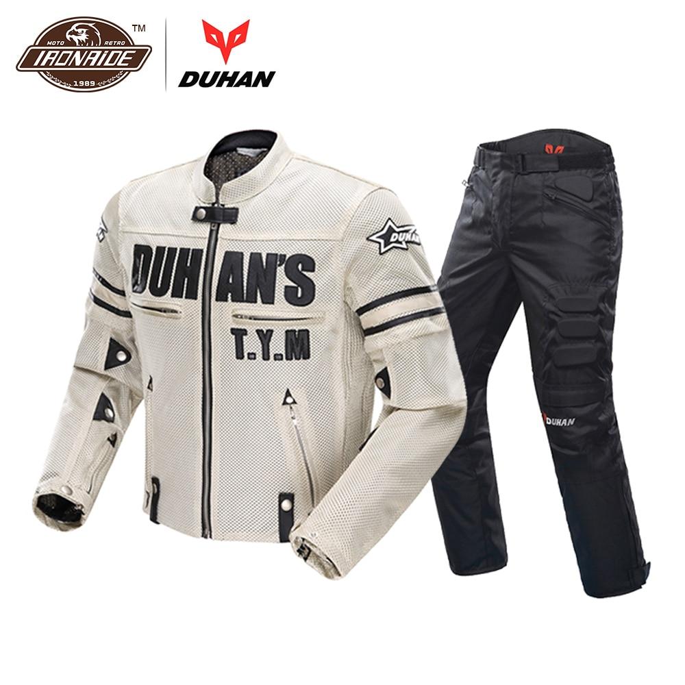 DUHAN Motorcycle Jacket Motocross Suits Jacket&Pants Moto Jacket Protective Gear Armor Men Motorcycle Clothing jacket met jacket page 14