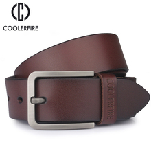 лучшая цена 100% cowhide genuine leather belts for men brand Strap male pin buckle fancy vintage jeans cintos HQ019 freeshipping