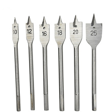 6pc Sharp Woodwork Flat Drill Hole Set High Carbon Steel Multi-standard Flat Drill Bit Flat Boring Bit Wood Flat Drill Bit Set цена
