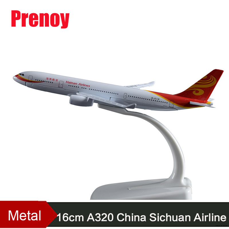 16cm A320 China Sichuan Airlines Aviation Model China Sichuan Airbus Airway Metal Airplane Chinese Aircraft Model Crafts A320