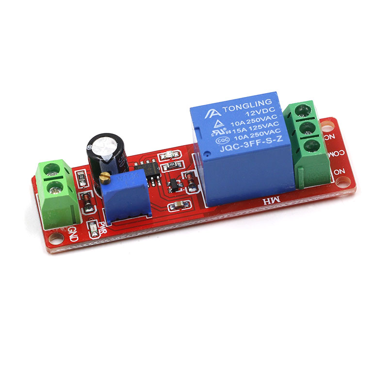NE555 Trigger Timer Switch Delay Connect Module Adjustable Time Delay Relay DC 12V 10A 0-10 Seconds With LED Indicator Board