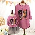 Outono e inverno 2015 da família olha sweatershirts vestuário mãe e filha mãe me menina crianças roupas de outono inverno