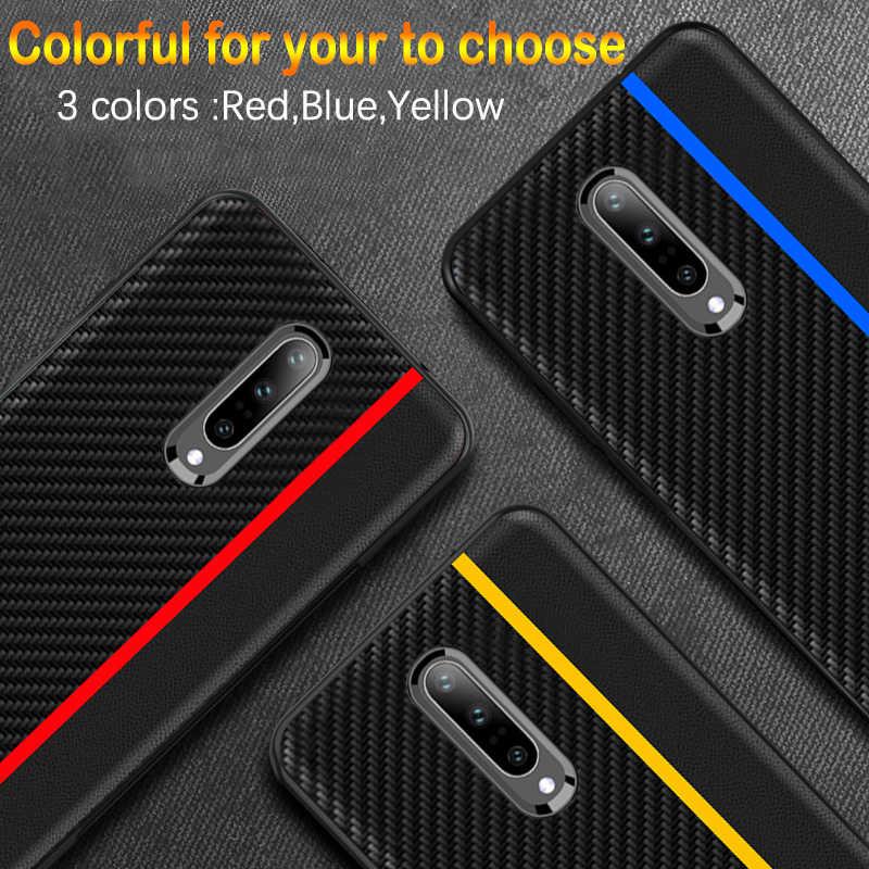 Для Oneplus 7 Pro Чехол оригинальный CENMASO из углеродного волокна Текстура PU кожаный защитный чехол для Oneplus 7 6 6t 5 5t чехол Funda