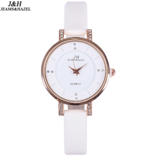 JEAMS&HAZAL festival Memorial Day gift women creative slim strap wristwatch brief design elegance fashion quartz lady watches