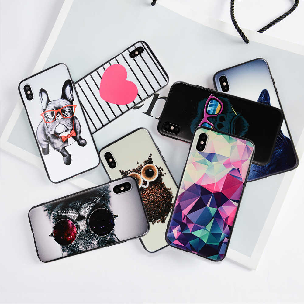 Phone Case For iPhone SE 5S 5 S 6 6S 7 8 Plus XS Max Soft Silicone TPU Ultra Thin Flower Floral Back Cover For iPhone XS XR Case