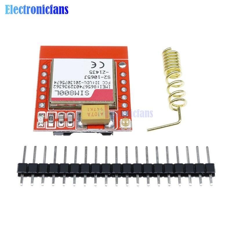 Diymore Smallest SIM800L GPRS GSM Module MicroSIM Card Core Board Quad-band TTL Serial Port For Arduino With Antenna