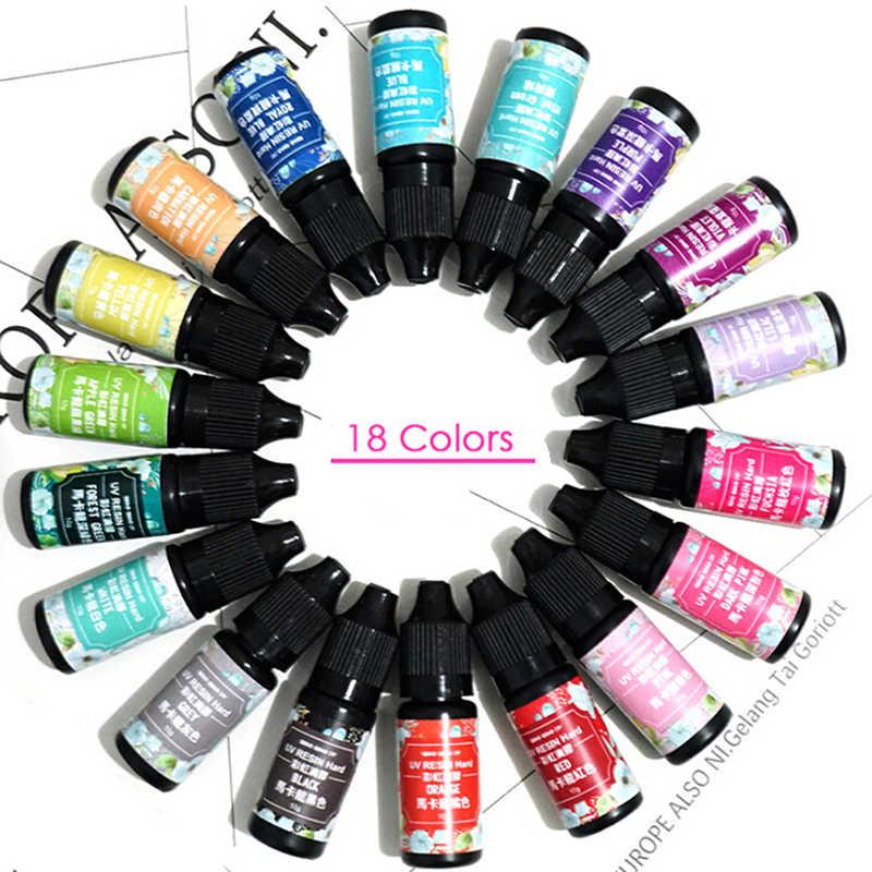 2018 Горячее предложение, 18 цветов, эпоксидный УФ-окрашивающий краситель из смолы, пигмент, УФ-Гель-лак, твердый клей для прессформы из силиконовой смолы, сделай сам, ювелирные изделия