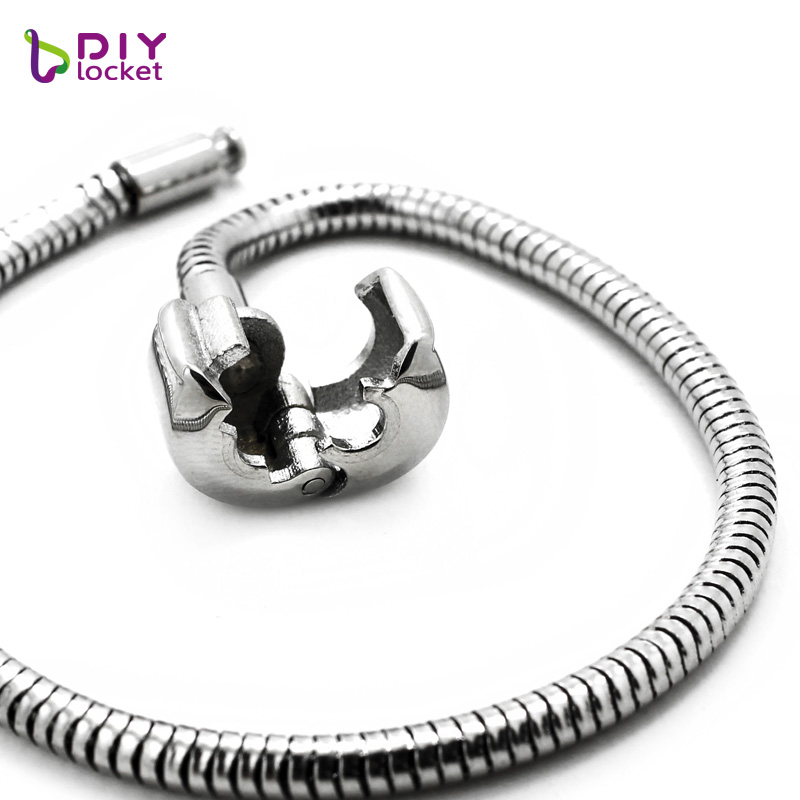 10PCS Wholesale Fashion Jewelry Stainless steel PAN Bracelet  3MM Snake Chain charm Bracelets fit women braceletsPABR15 16*10-in Charm Bracelets from Jewelry & Accessories    2