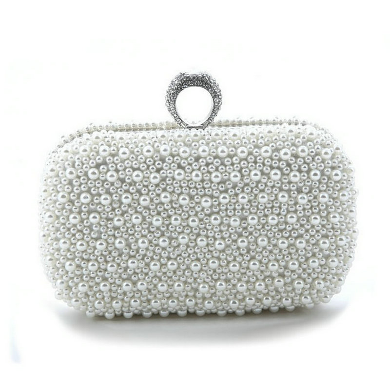 Women Evening Bags Finger Rings Diamonds Wedding Lady Handbags Chain Shoulder Day Clutches Purse Beaded Evening Party Bag Sg143 medium computer cpu plastic cooling fan leaves card blower heat sink