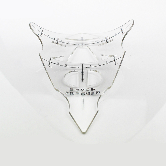 Reusable Eyebrow Stencil Makeup Micro-blading Measuring Shaper Tattoo Ruler Tool 1