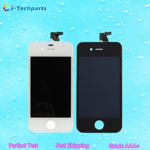 For iPhone 4 LCD Display Assembly For iPhone 4S LCD Display and Touch Digitizer Assembly with Frame Replacement – White Black