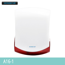 HOMSECUR A16 1 Wireless Flash Strobe External Siren for Our 433Mhz GSM Alarm System
