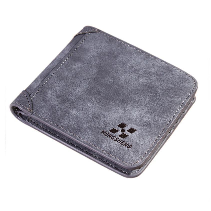 Men Wallets Famous Brand PU Leather Wallet Men Card Holder Short Vintage Design Wallet Purse For Male macaquinho masculino Lucky wallet