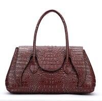ShengDiLu Shoulder Bag Handbag Genuine Leather Compound Cowhide Crocodile Grain Classic Fashion Retro High Quality Luxury