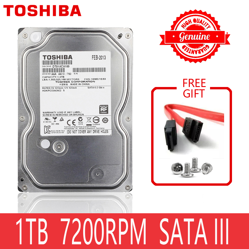 TOSHIBA 1TB Hard Drive Disk 1000GB 1 TB Internal HD HDD Harddisk 7200 RPM 32M Cache