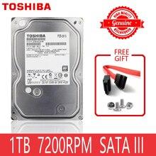 """Dysk twardy TOSHIBA 1 TB 1000GB 1 TB wewnętrzny dysk twardy HD HDD 7200 obr./min pamięć podręczna 32M 3.5 """"35 SATA III na komputer stacjonarny"""